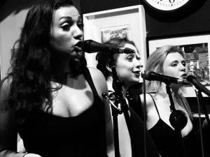 Beth, Tess & Tina singing at Granvilles