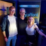 James, Dave and Tina at Stafford FM